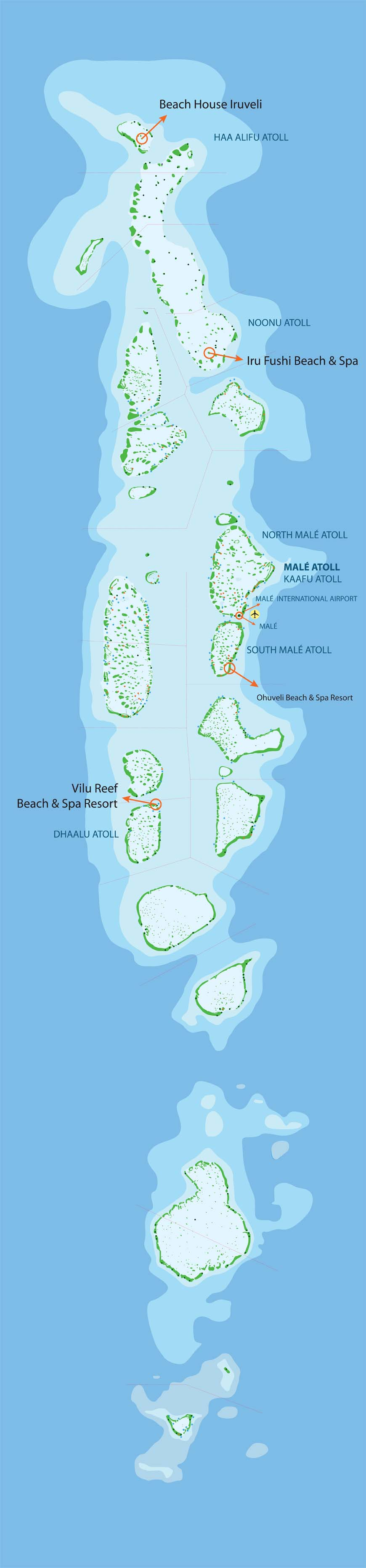 Maldives Map Sun Water Sport Center